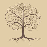 Abstract Retro Tree Illustration Stock Images
