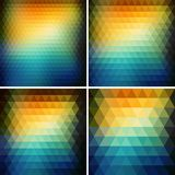 Abstract retro triangle  background Stock Image
