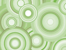 Abstract Retro Vector Background with circles. Abstract background with green toned concentric circles Stock Images