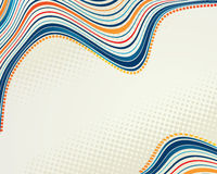 Abstract retro vector dots halftone wave Royalty Free Stock Images