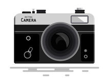 Abstract Retro Vector Photo Camera. Isolated on White Background Stock Photo
