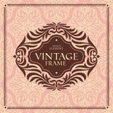 Vintage floral frame Royalty Free Stock Images