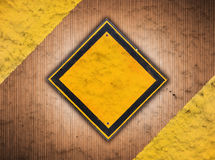 Abstract retro vintage of old traffic sign Stock Images