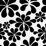 Abstract retro vintage seamless pattern. In black and white, eps 10 Royalty Free Stock Images