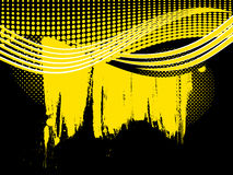 Abstract retro yellow wave background Stock Image