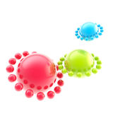 Abstract rgb sphere background. Made of spheres isolated on white vector illustration
