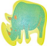 Abstract rhinoceros stock illustration