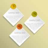 Abstract rhomb and circle infographic design Royalty Free Stock Images
