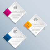 Abstract rhomb infographic design Royalty Free Stock Photography