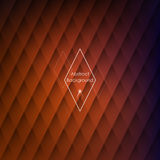 Abstract rhombic orange background Stock Photography