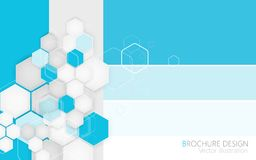 Abstract rhombus blue background. Vector Illustration Royalty Free Stock Image