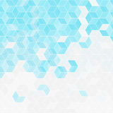 Abstract rhombus blue background. Vector Illustration Stock Photography