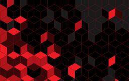 Abstract rhombus red background. Vector Illustration Stock Images