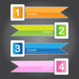 Abstract Ribbon Banner, Vector Work Stock Images