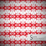 Abstract ribbon bow red lattice vintage geometric seamless patte. Rn vector illustration Stock Image