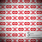 Abstract ribbon bow red vintage geometric seamless pattern. Vector illustration Royalty Free Stock Photo