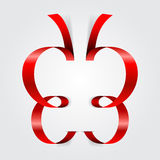 Abstract ribbon butterfly. Vector illustration Royalty Free Stock Image