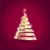 Abstract Ribbon Christmas Tree Stock Photos