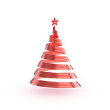 Abstract Ribbon Christmas Tree Royalty Free Stock Images