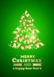Abstract ribbon christmas tree. Stock Image