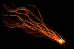Abstract ribbon flame Stock Photo