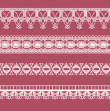 Abstract ribbon lace imitating Crochet Royalty Free Stock Photography