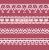 Abstract ribbon lace imitating Crochet Royalty Free Stock Photography