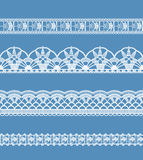 Abstract ribbon lace imitating Crochet Stock Image
