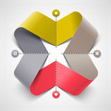 Abstract ribbon shape Stock Photo