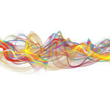 Abstract ribbon waves Royalty Free Stock Photos