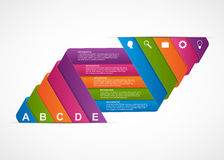 Abstract ribbons infographics design template. Royalty Free Stock Photography