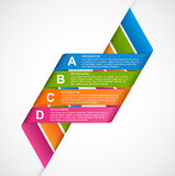 Abstract ribbons infographics design template. Royalty Free Stock Images