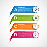 Abstract ribbons infographics design template. Vector illustration Royalty Free Stock Photo
