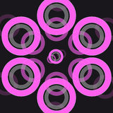 Abstract ring on black background Stock Images
