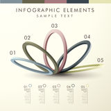 Abstract ring shape infographics Royalty Free Stock Photos