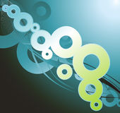 Abstract ring wave background Stock Photo
