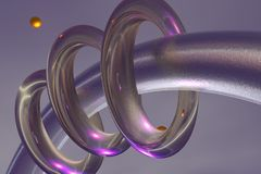 Abstract rings. 3d render illustration stock illustration
