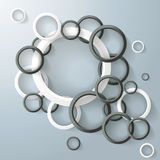 Abstract Rings Bubbles Black And White Stock Images