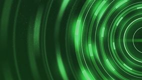 Abstract rings with light rays and glow tunnel glow rotation circles Dark green particles background. Abstract blinking glowing Glittering bokeh Backdrop blue stock video