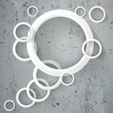 Abstract Rings Speech Bubble Concrete Royalty Free Stock Images