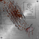 Abstract ripped metal sign stock illustration
