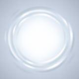 Abstract ripple liquid round frame. Stock Image