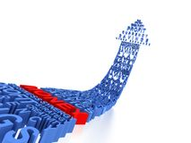 Abstract rising or growing profit. Abstract and rising profit in 3D stock illustration