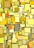 Abstract rmosaic backdrop in multiple yellow Royalty Free Stock Photo