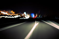 Abstract road. At night and skyline stock photos