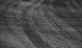 Abstract road background with tires tracks Royalty Free Stock Photography