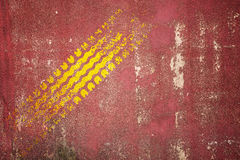 Abstract road background with tyre track Stock Photo