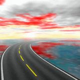Abstract road landscape - digital painting Stock Photo