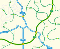 Abstract road map Royalty Free Stock Photography