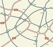 Abstract road map. Abstract scheme of city road map Royalty Free Stock Image